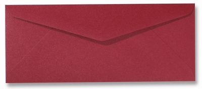 09 Envelop 9x22 CM Metallic Red per stuk