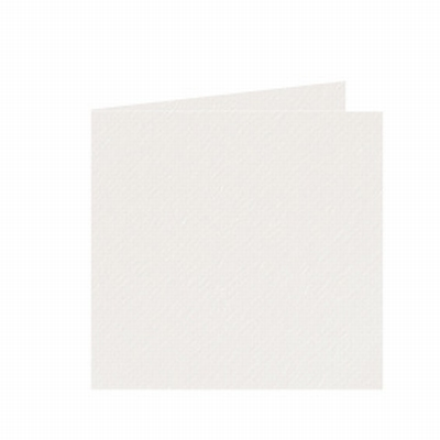 03 Dubbele kaart 13x13 CM Fiore Ivoor