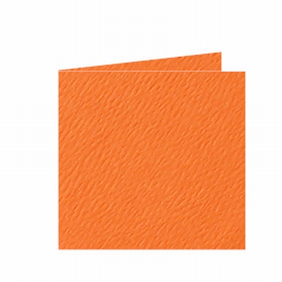 05 Dubbele kaart 13x13 CM Fiore Oranje