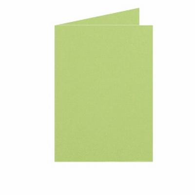 04 Dubbele kaart Staand 10,5x15 CM Roma Lindegroen per stuk
