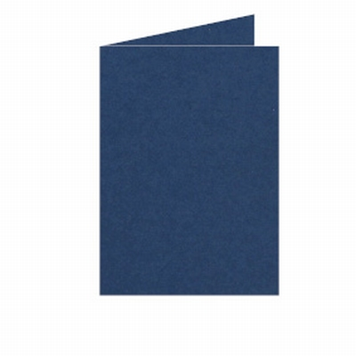 33 Dubbele kaart Staand 10,5x15 CM Roma Donkerblauw p.st.