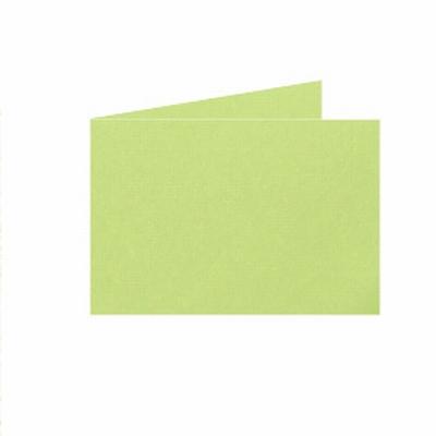 04 Dubb. kaart Liggend 15x10,5 cm Roma Lindegroen per stuk