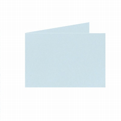 05 Dubb. kaart Liggend 15x10,5 cm Roma Zachtblauw per stuk