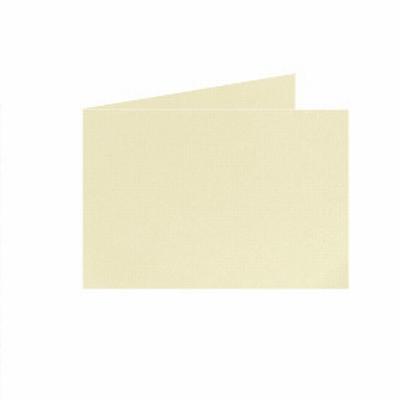 07 Dubb. kaart Liggend 15x10,5 cm Roma Zachtgeel p.st.