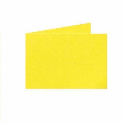 08 Dubb. kaart Liggend 15x10,5 cm Roma kanariegeel p.st.