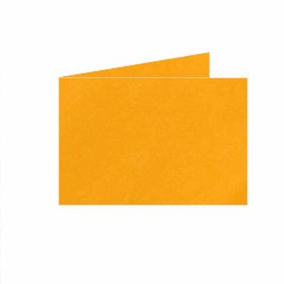 10 Dubb. kaart Liggend 15x10,5 cm Roma Goudgeel p.st.