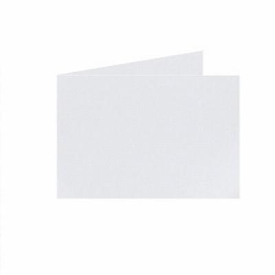 14 Dubb. kaart Liggend 15x10,5 cm Roma Zilvergrijs p.st.