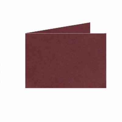32 Dubb. kaart Liggend 15x10,5 cm Roma Donkerrood p.st.