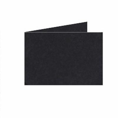 34 Dubb. kaart Liggend 15x10,5 cm Roma Zwart p.st.