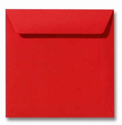13 Envelop 17x17 cm Roma Koraalrood