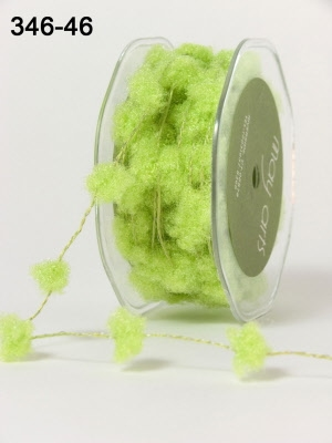 GREEN Fuzzy / Pom-poms (Wired)