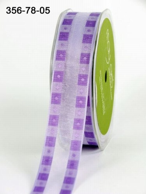 LAVENDER/PURPLE  Solid Band Edge / Square Print 22 mm
