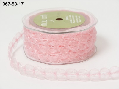 SHEER/LOOPED TRIM PINK 16 mm