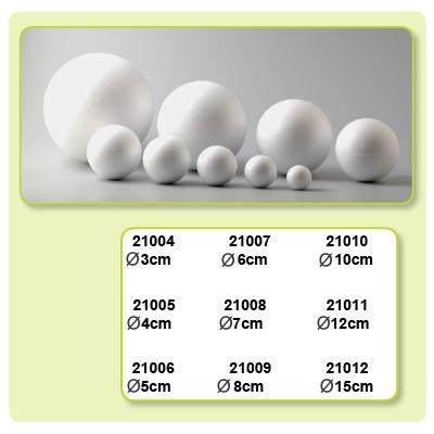 Styropor ballen doorsnede 100 mm