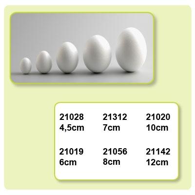 Styropor eieren doorsnede 120 mm