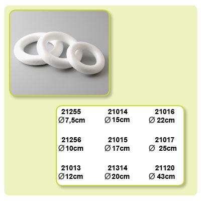 Styropor ring doorsnede 250 mm.