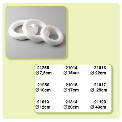 Styropor ring doorsnede 220 mm.