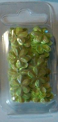 Bloempailetten 15mm groen ca. 3,3 gram