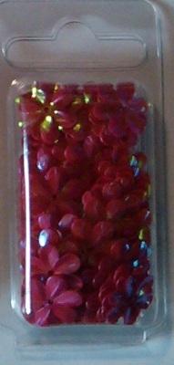 Bloempailetten 15mm rozerood ca. 3,3 gram