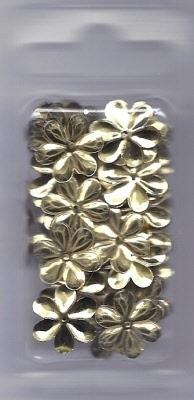 Bloempailetten 15mm goud ca. 3,3 gram