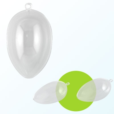 Plastic ei 2-delig 12 cm