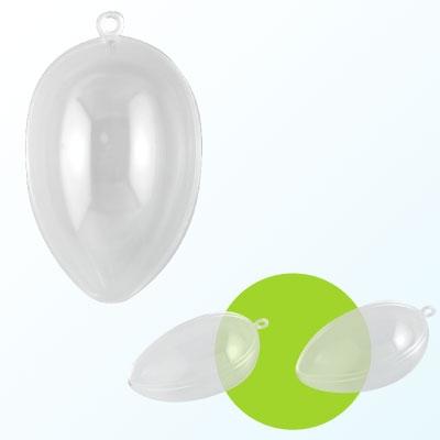 Plastic ei 2-delig 16 cm