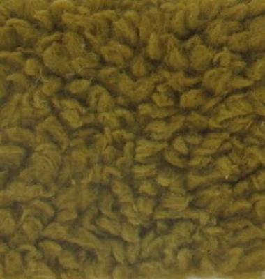 Teddypluche gekruld katoen, 100 x 140 cm, goud bruin
