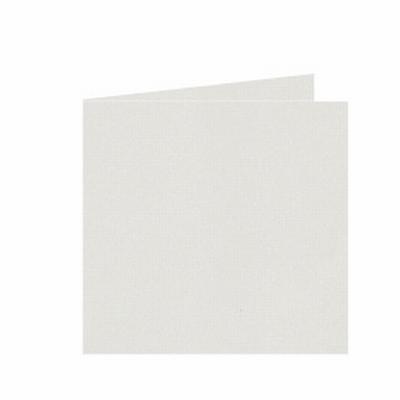 03 Dubbele kaart 15x15 CM Roma Ivoor per stuk