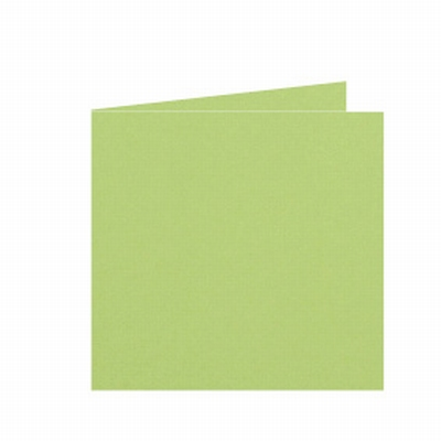 04 Dubbele kaart 15x15 CM Roma Lindegroen per stuk