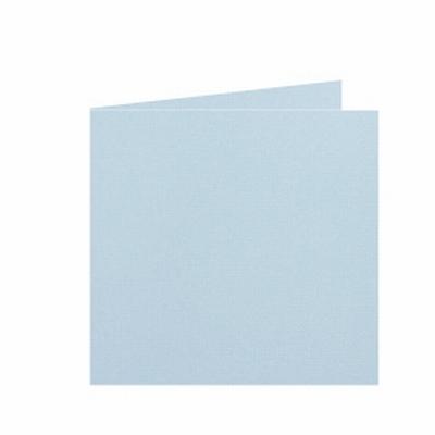 05 Dubbele kaart 15x15 CM Roma Zachtblauw per stuk