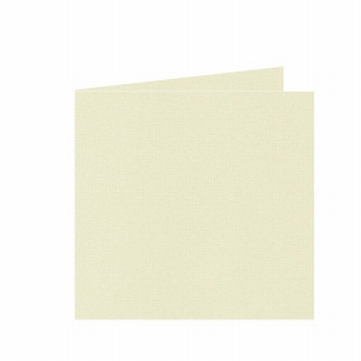 07 Dubbele kaart 15x15 CM Roma Zachtgeel per stuk