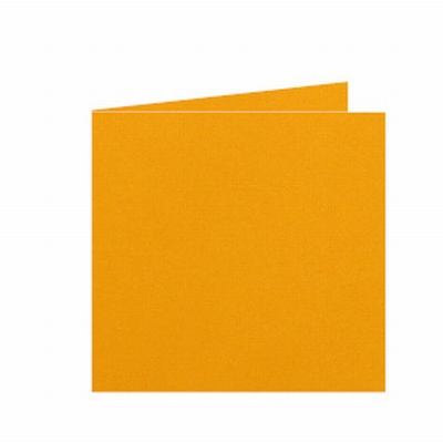 10 Dubbele kaart 15x15 CM Roma Goudgeel per stuk