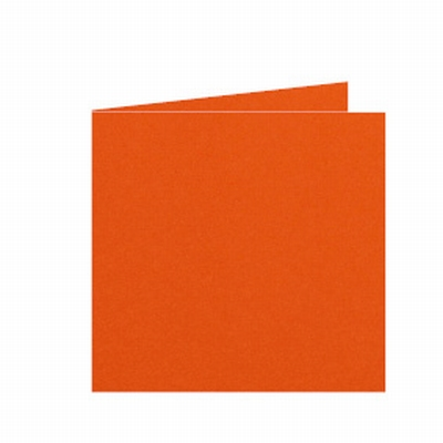 12 Dubbele kaart 15x15 CM Roma Donkeroranje per stuk