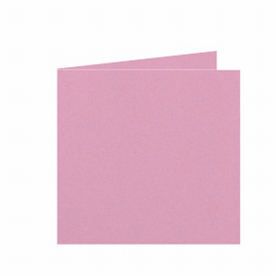 16 Dubbele kaart 15x15 CM Roma Donkerroze per stuk