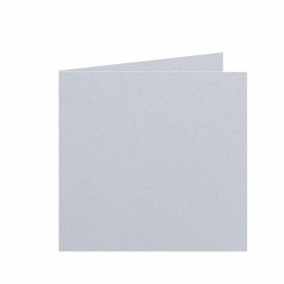 30 Dubbele kaart 15x15 CM Roma Dolfijngrijs per stuk