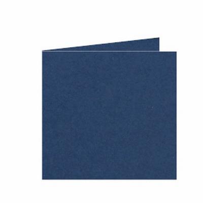 33 Dubbele kaart 15x15 CM Roma Donkerblauw per stuk