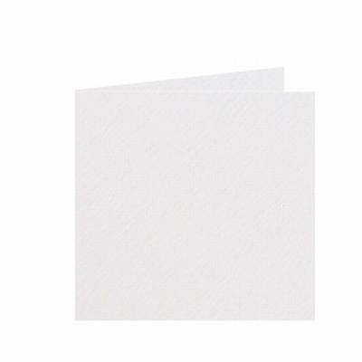 02 Dubbele kaart 15x15 CM Fiore Gebroken wit per stuk