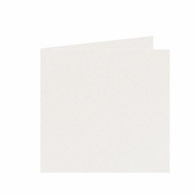 03 Dubbele kaart 15x15 CM Fiore Ivoor per stuk