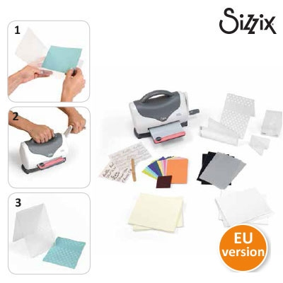 Sizzix texture boutique embossing machine beginners kit