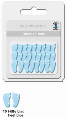 URSUS Classic Brads, 26 stuks, Voetjes Blauw