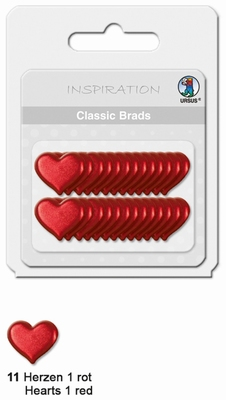 URSUS Classic Brads, 26 stuks, Hartjes 1 Rood
