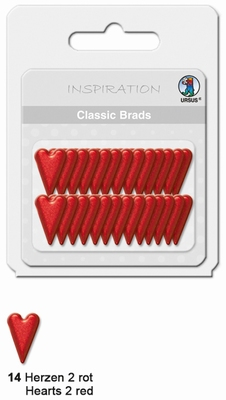 URSUS Classic Brads, 26 stuks, Hartjes 2 Rood