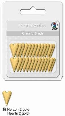 URSUS Classic Brads, 26 stuks, Hartjes 2 Goud