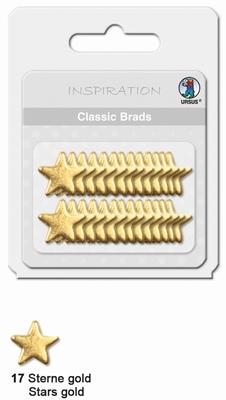 URSUS Classic Brads, 26 stuks, Sterren Goud