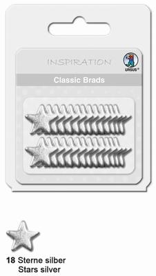 URSUS Classic Brads, 26 stuks, Sterren Zilver
