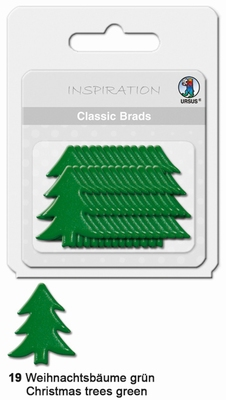 URSUS Classic Brads, 26 stuks, Kerstboom Groen