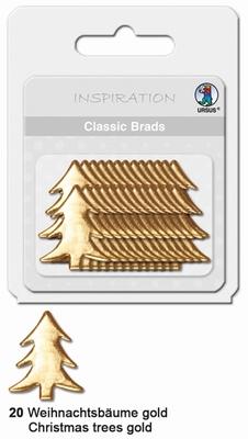 URSUS Classic Brads, 26 stuks, Kerstboom Goud