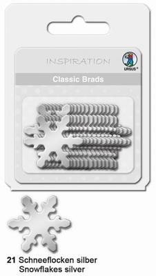 URSUS Classic Brads, 26 stuks, Sneeuwvlok Zilver