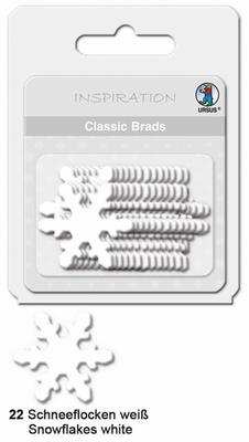 URSUS Classic Brads, 26 stuks, Sneeuwvlok Wit