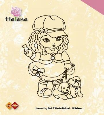 Clear Stamp Helene met Hondjes